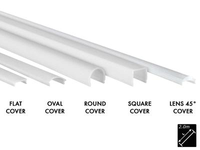 PLASTIC COVER M-LINE FLAT MILKY (OPAL), 2m